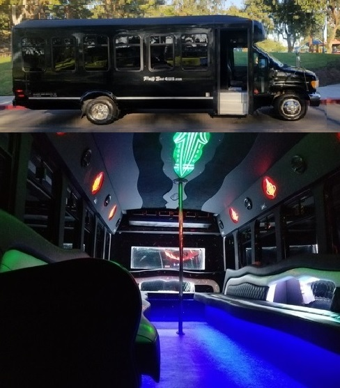 Having a Bachelor Party in a Party Bus